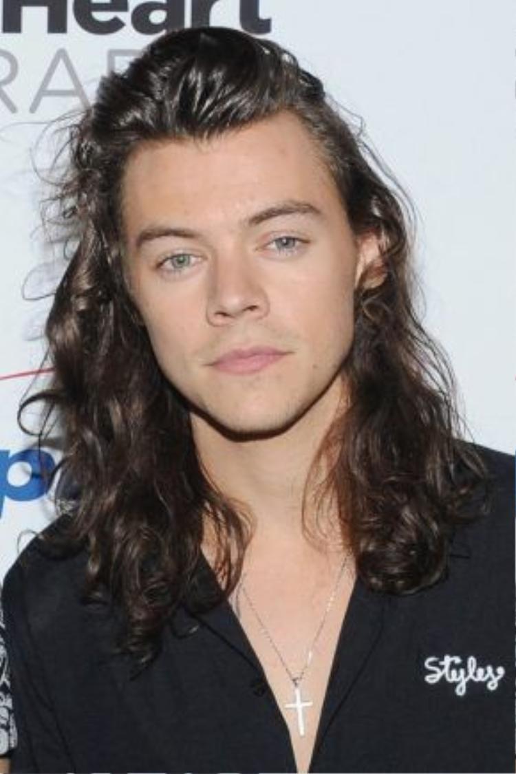 Gạt bỏ định nghĩa chỉ con gái mới được để tóc dài. Anh chàng Harry Styles trông vô cùng quyến rũ với kiểu tóc xoăn xõa tự nhiên chải ngược phía sau.