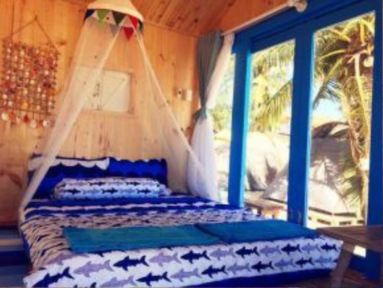 Giá cho một đêm ở căn lều này tầm 600-800.000 đồng (Ảnh: @cocobeachcamp)