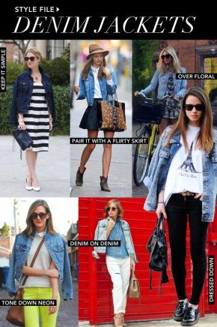 6 cách phối áo khoác denim đi dạo phố