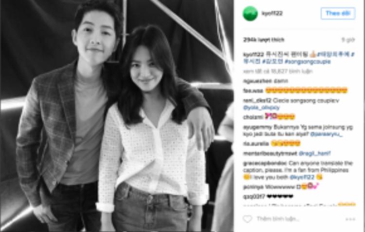 Song Hye Kyo tạo dáng tình cảm với Song Joong Ki, chủ động gọi tên Song Song couple.