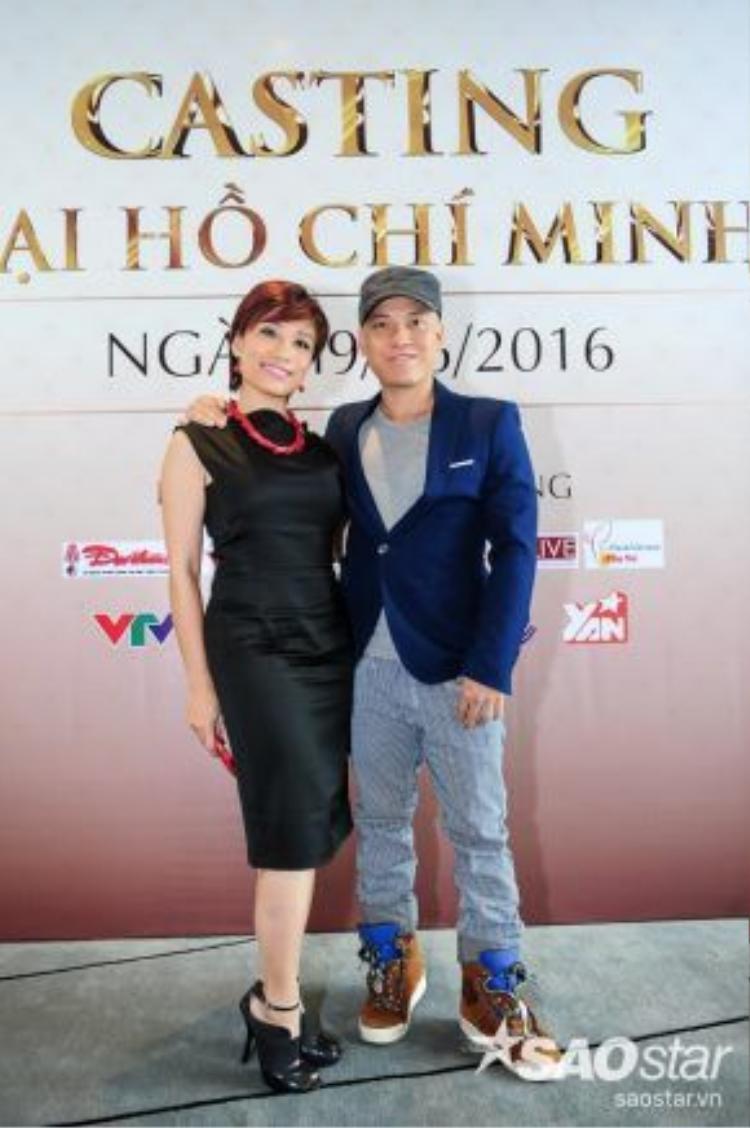 Biên đạo múa Trần Ly Ly và NTK Cory Trần đảm nhận vị trí BGK vòng sơ loại.