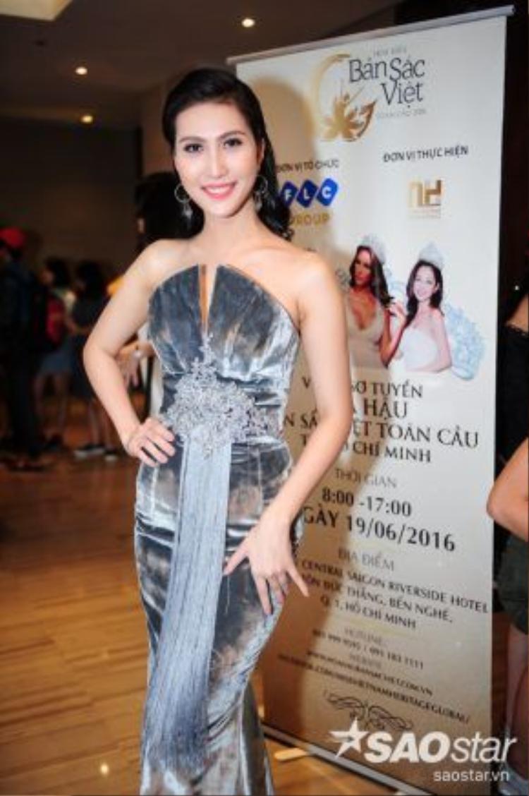 Người đẹp Nguyễn Thị Tuyết Ngọc từng lọt vào top 45 cuộc thi Hoa hậu hoàn vũ 2015. Cô trở lại cuộc thi này với mong muốn khẳng định và hoàn thiện bản thân.