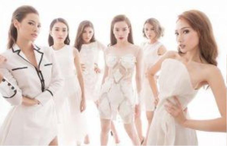 Team Hồ Ngọc Hà với 5 cô gái: LiLy Nguyễn, Lê Hà, Chúng Huyền Thanh, Phí Phương Anh, Khánh Ngọc.