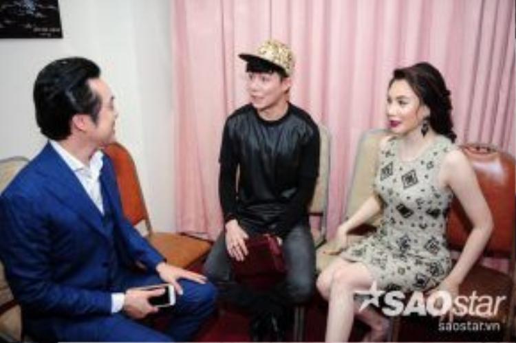 HLV Dương Khắc Linh trò chuyện cùng Hồ Quỳnh Hương và Nathan Lee.