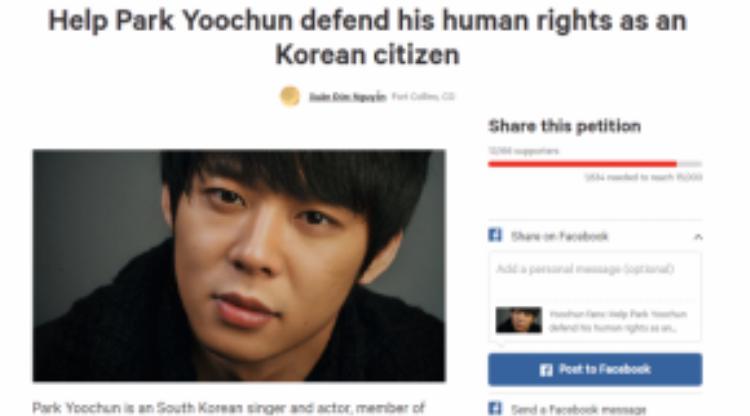 Các dự án fan lập nên để ủng hộ Park Yoochun.