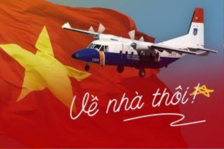 """Về nhà thôi! - """"Mệnh lệnh"""" đầy xúc động của mọi người dân Việt đối với 9 chiến sỹ trên chiếc máy bay cứu hộ Casa."""