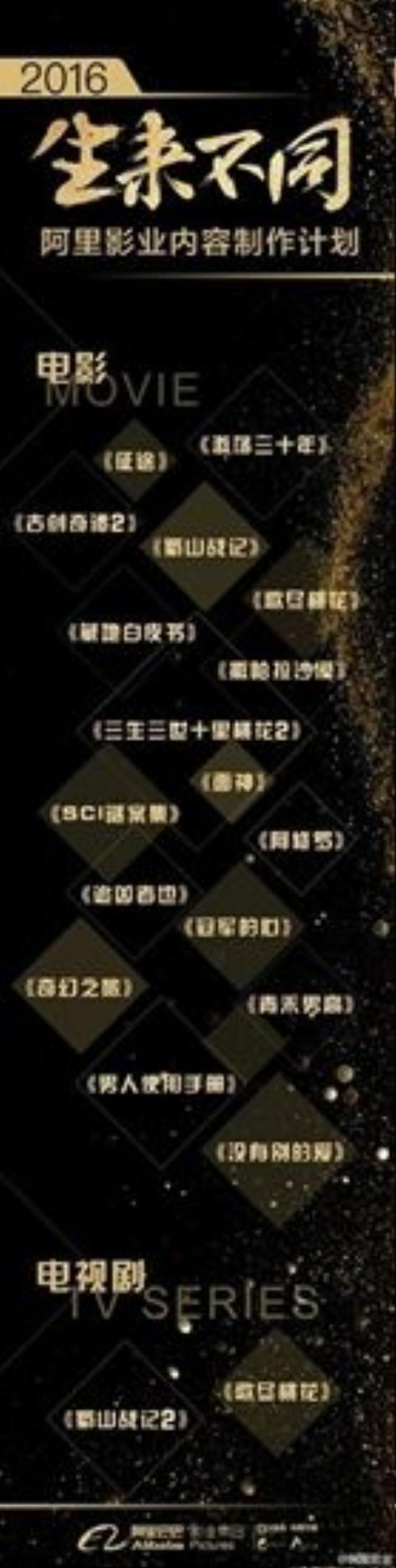 Cùng nằm trong danh sách những bộ phim mới của Alibaba còn có những tác phẩm nổi bật khác như Tam sinh tam thế - Thập lý đào hoa 2, Cổ kiếm kỳ đàm 2, Ca tẫn đào hoa, Thục sơn chiến kỷ 2…