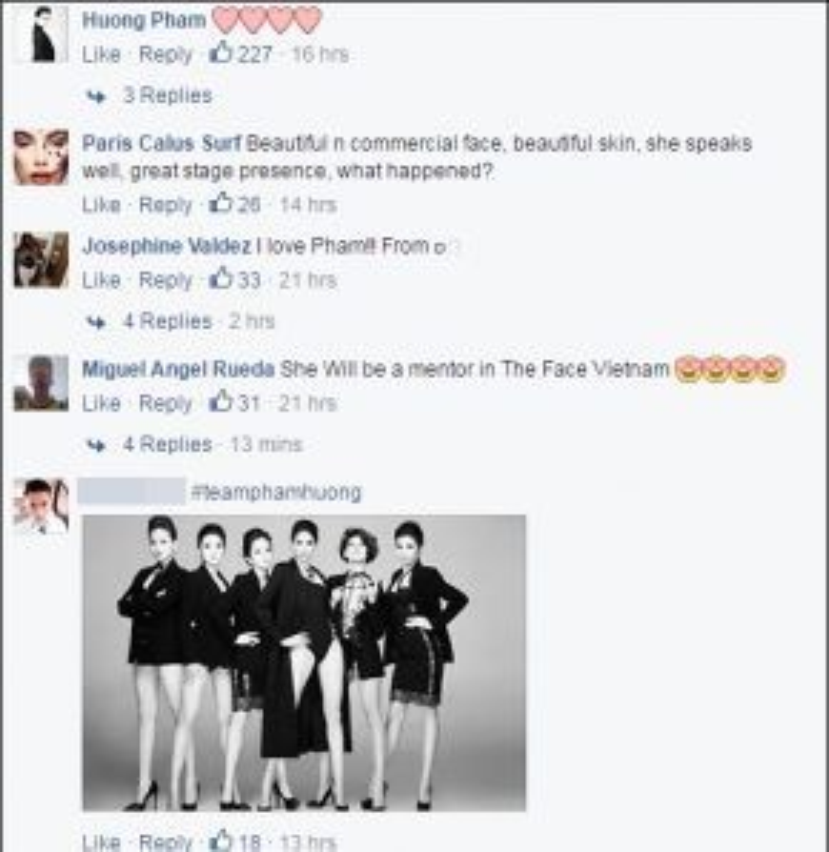 Người đẹp Việt cũng để lại bình luận thể hiện sự cảm ơn khi bà Ines vẫn chú ý tới mình.