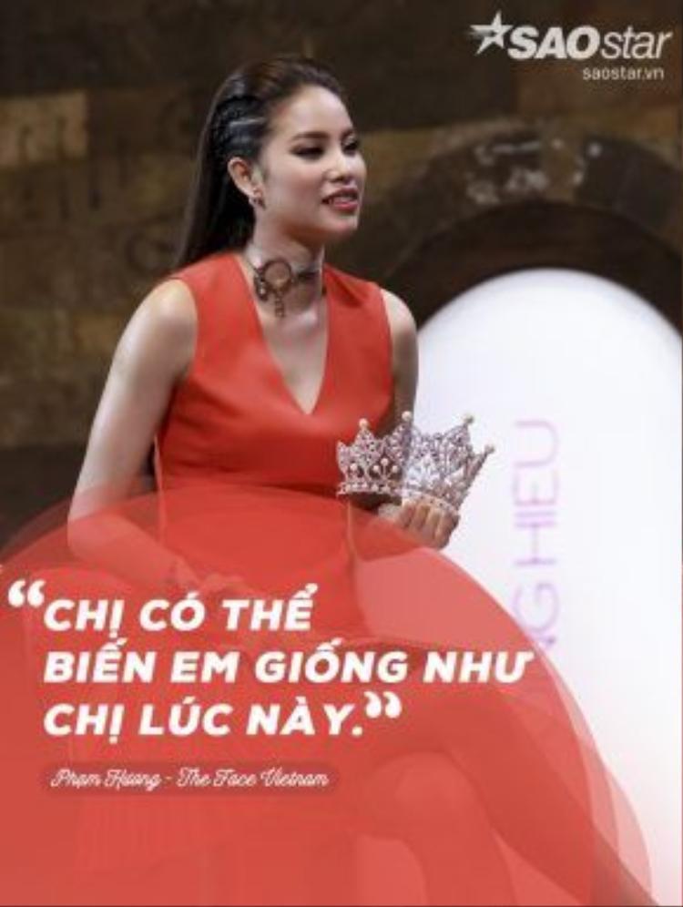 """Đây là cách HLV Phạm Hương dùng để thu hút thí sinh về đội: """"Chị tự tin có thể biến em giống như chị lúc này và có được những gì như chị ngày hôm nay."""""""