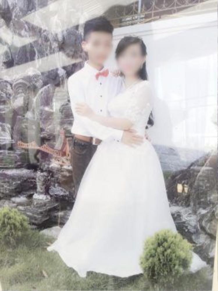 Ảnh cưới của cặp đôi P.T. và L.T. được chia sẻ trên mạng xã hội.