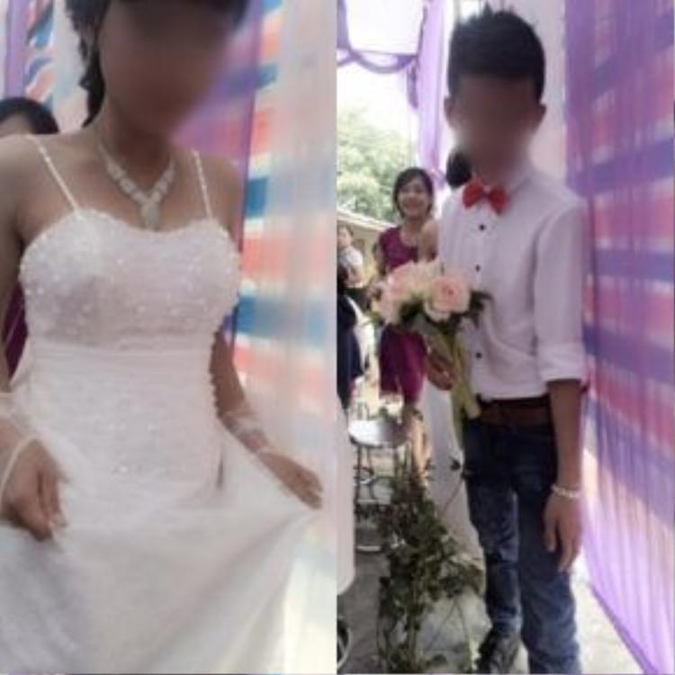 Cả cô dâu và chú rể chỉ mới 16 tuổi.