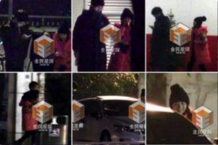 Những hình ảnh làm dấy nên tin đồn hẹn hò của Lưu Hạo Nhiên và Đàm Tùng Vận.