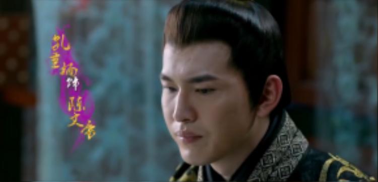 Khổng Thùy Nam trong vai Hoàng đế Bắc Hán Triều Trần Tây.