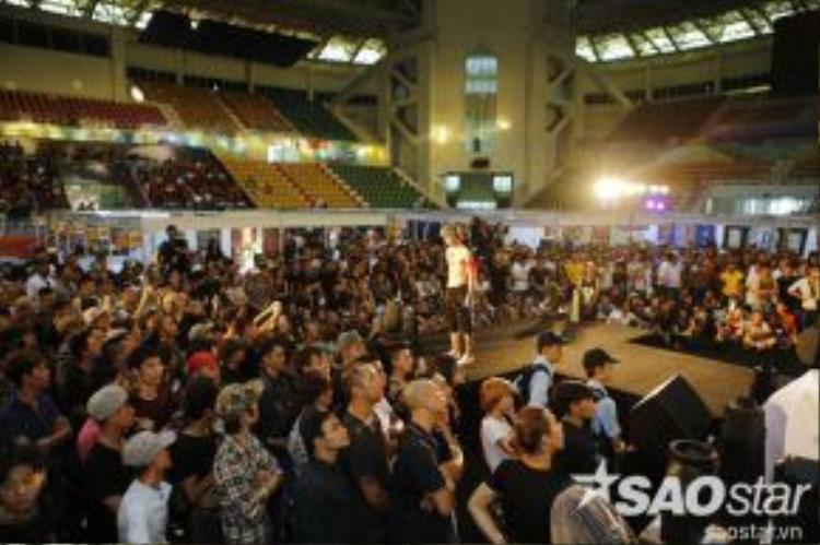 Ngay ngày đầu sự kiện diễn ra đã thu hút đông đảo giới trẻ khắp cả nước về tham dự.