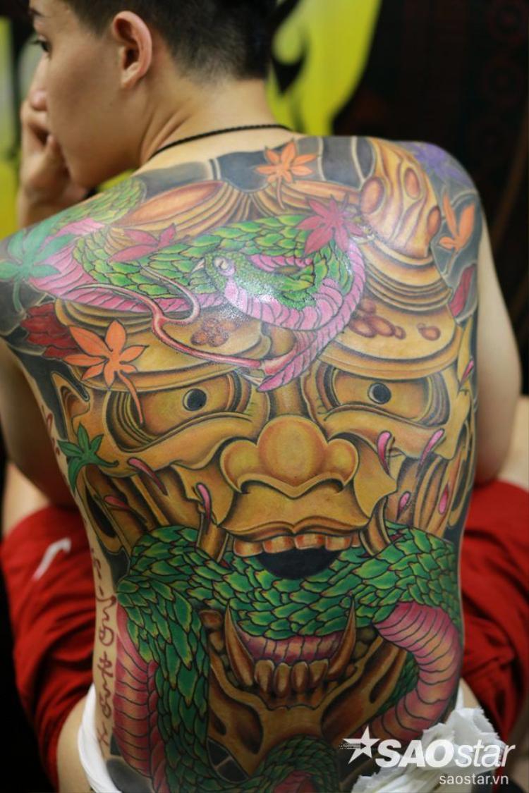 Ấn tượng với những hình xăm khủng trong Đại hội tattoo Quốc tế đầu tiên ở Hà Nội