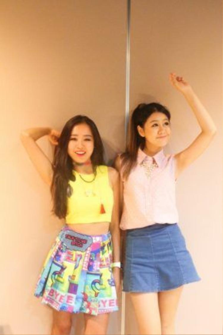 Lê Minh Châu và Yanisa Saetia tuy mới gặp mặt nhưng cũng đã sớm thân thiết