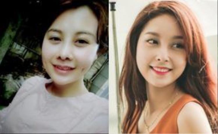 Chân dung má mí bán dâm (bên trái) và cựu nữ sinh trường Kinh tế Quốc dân.