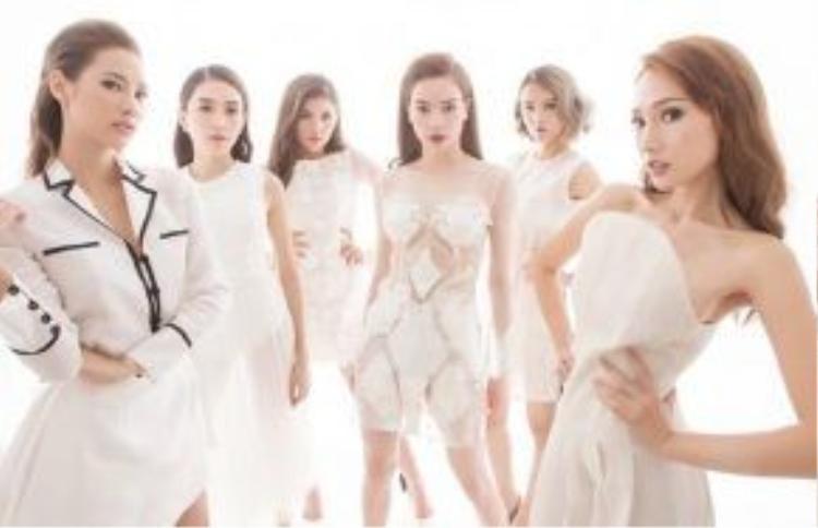 Những cô gái đầy sang trọng và quyến rũ đến từ team Hồ Ngọc Hà.