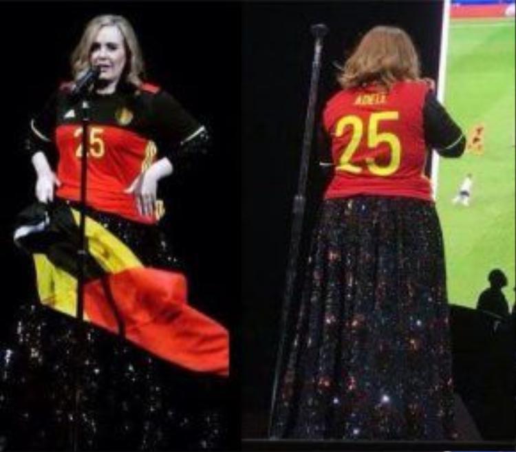 Adele hiện nguyên hình 1 fangirl chính hiệu. (Nguồn ảnh: Fanpage Adele Fan Vietnam)