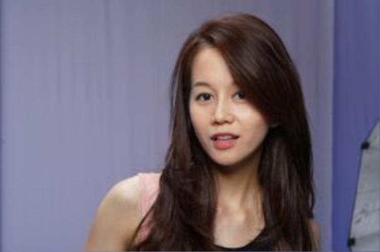 Hình ảnh An Nguy trong thử thách photoshoot ở tập 1 The Face Việt Nam.