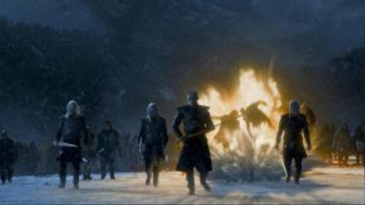 Lục địa Westeros giờ đây sẽ không còn bình minh như trước nếu quỷ Bóng Trắng chính thức tràn xuống.
