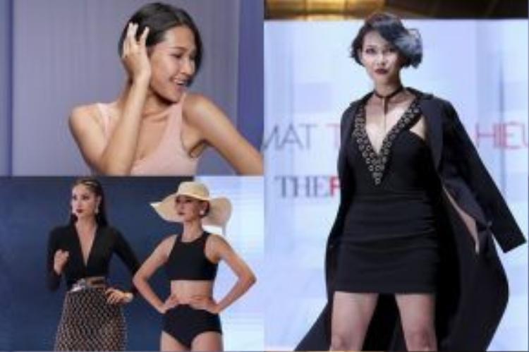 """Trái ngược với gương mặt """"trẻ con"""" của Khánh Ngân và An Nguy, Diệp Linh Châu là thí sinh sở hữu ngoại hình cá tính, khác biệt nhất trong team Phạm Hương. Cô sinh năm 1994 và đến từ Gia Lai. Năm 2014, Diệp Linh Châu vượt qua 2000 thí sinh để đăng quang cuộc thi Fashionista Việt Nam. Khi đó, cô đang là sinh viên ngành Thiết kế nội thất của trường Đại học Tôn Đức Thắng. Sau khi đăng quang Fashionista Vietnam, Diệp Linh Châu theo nghiệp stylist, đồng thời cũng là một mẫu ảnh ấn tượng. Chắc chắn cô gái này sẽ là """"gà chiến"""" đắc lực của Hoa hậu Phạm Hương."""