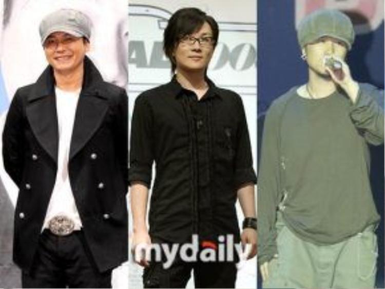 Các thành viên Seo Taiji and Boys: Yang Hyun Suk, Seo Taiji, Lee Juno.
