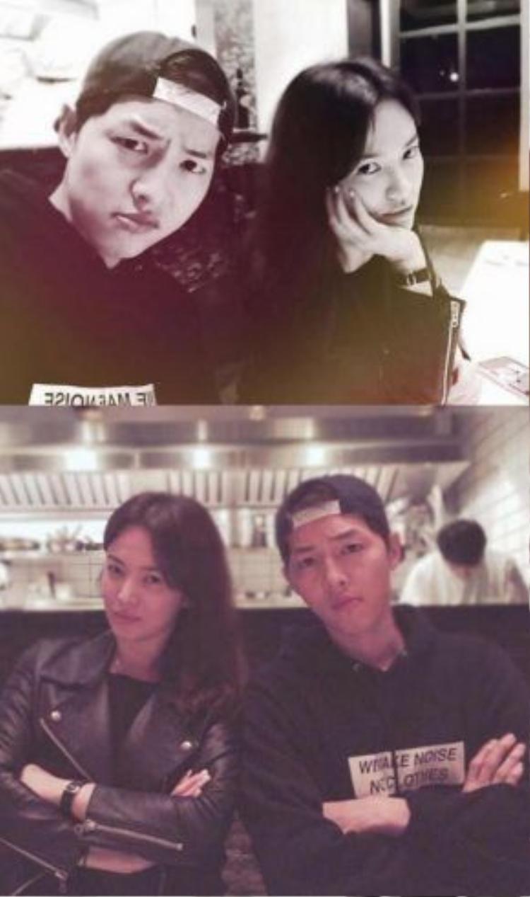 Song Hye Kyo thường xuyên đăng hình ảnh của mình và Song Joong Ki lên trang cá nhân.