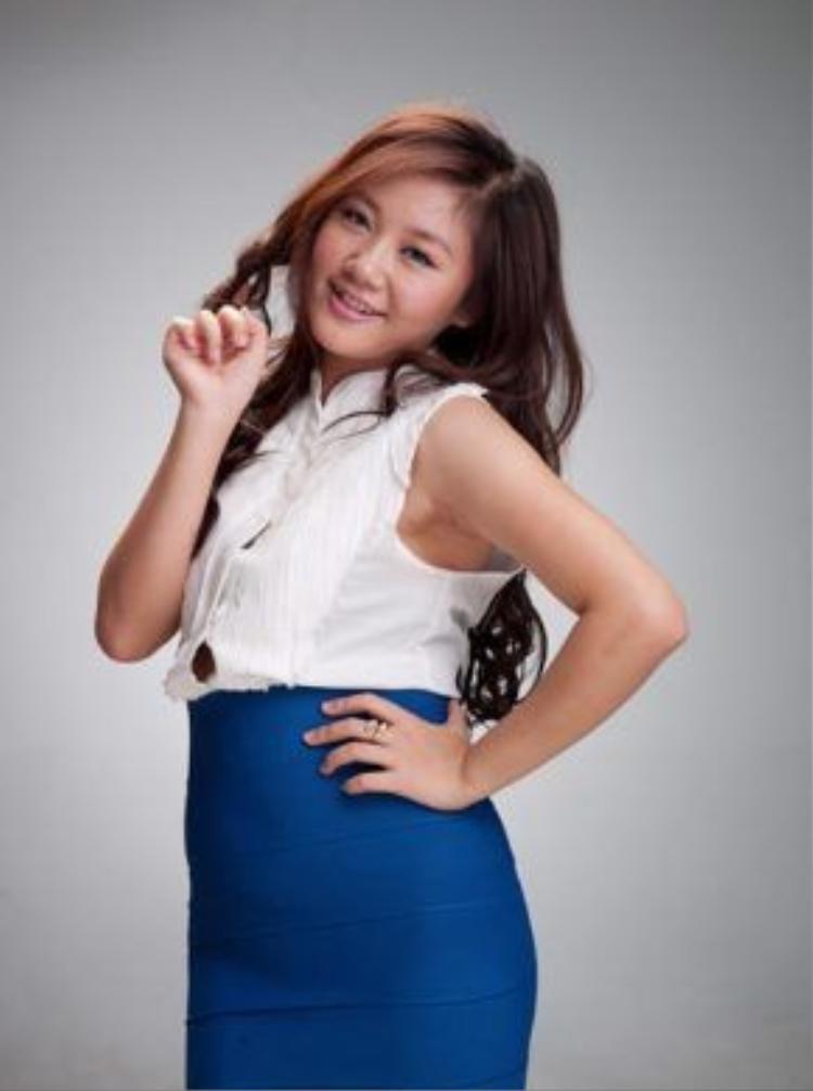 Hình ảnh Văn Mai Hương lần đầu xuất hiện trong chương trình tìm kiếm thần tượng âm nhạc là một cô bé 16 tuổi mũm mĩm như thế này.