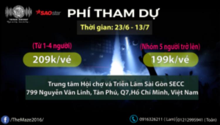 Thông tin chi tiết về giá vé của chương trình.