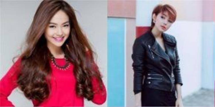 Minh Hằng hiện đại, cá tính hơn khi để tóc ngắn. Khi cô kết hợp cùng style thời trang cá tính thì độ ngầu của nàng Heo càng tăng lên.