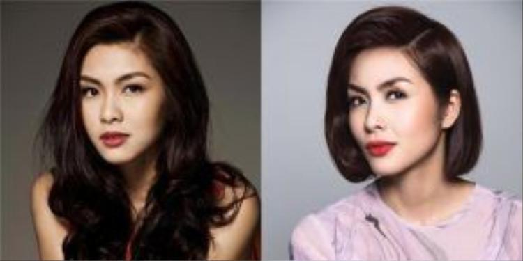Ngọc nữ của làng giải trí Việt không thay đổi mấy khi cô chuyển tóc dài sang ngắn. Tăng Thanh Hà luôn đẹp không góc chết và luôn mang vẻ đẹp của người phụ nữ hiện đại.