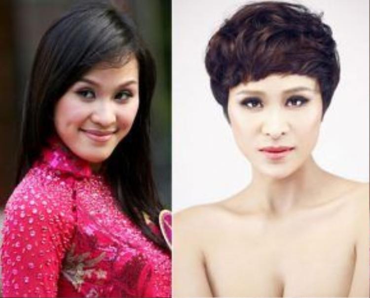"""Siêu mẫu Phương Mai lột xác hoàn toàn khi để tóc ngắn. Người đẹp sexy hơn, cá tính hơn và thoát mác """"gái quê"""" với mái tóc mới."""