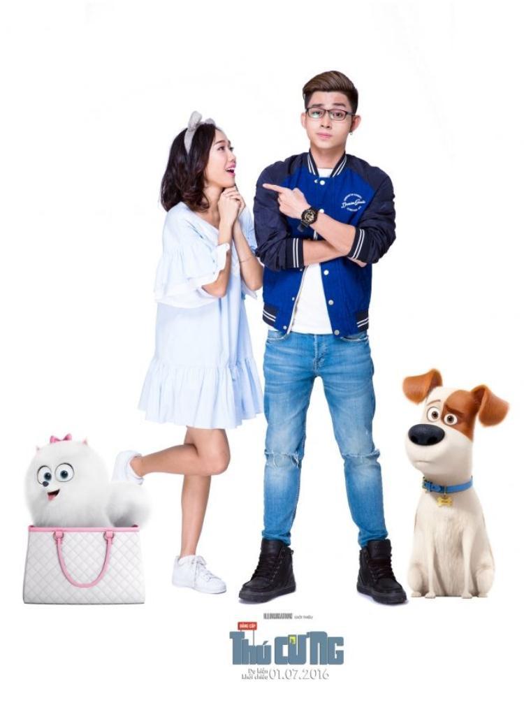 Jun Phạm hóa thú cưng bên hai mỹ nhân Khả Như và Diệu Nhi