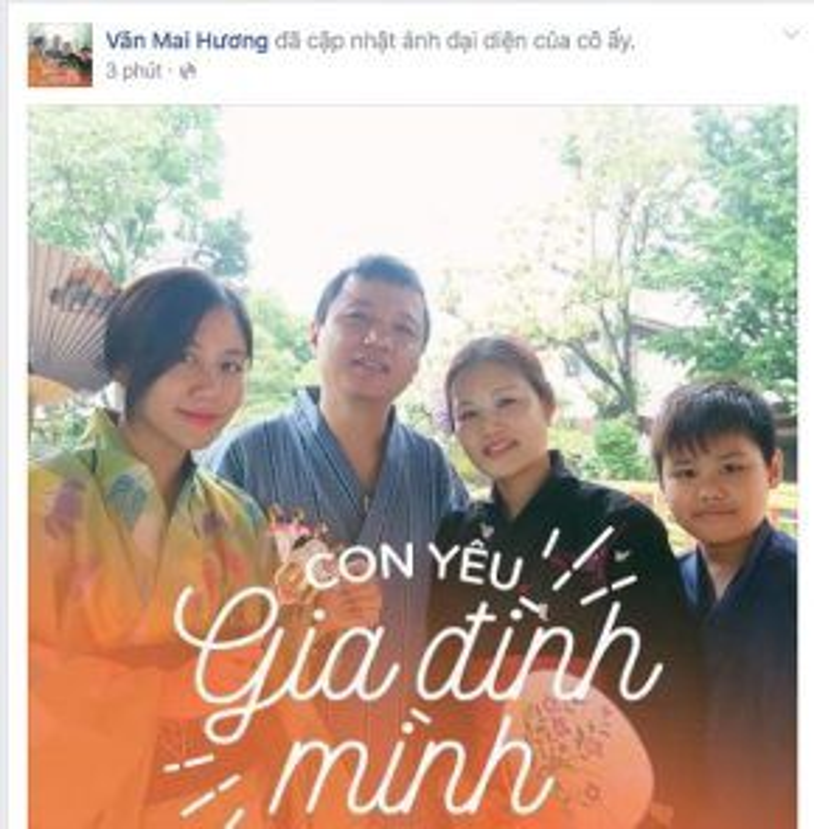 Isaac, Văn Mai Hương cũng thay avatar Facebook như lời cảm ơn, cách thể hiện tình yêu với gia đình của mình.