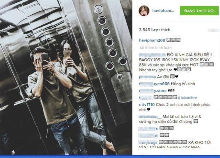 Ngày 28/01/2016, Hạ Vi đăng tải hình ảnh diện đồ đôi cùng bạn trai. Dường như cả hai rất hạnh phúc bên nhau.