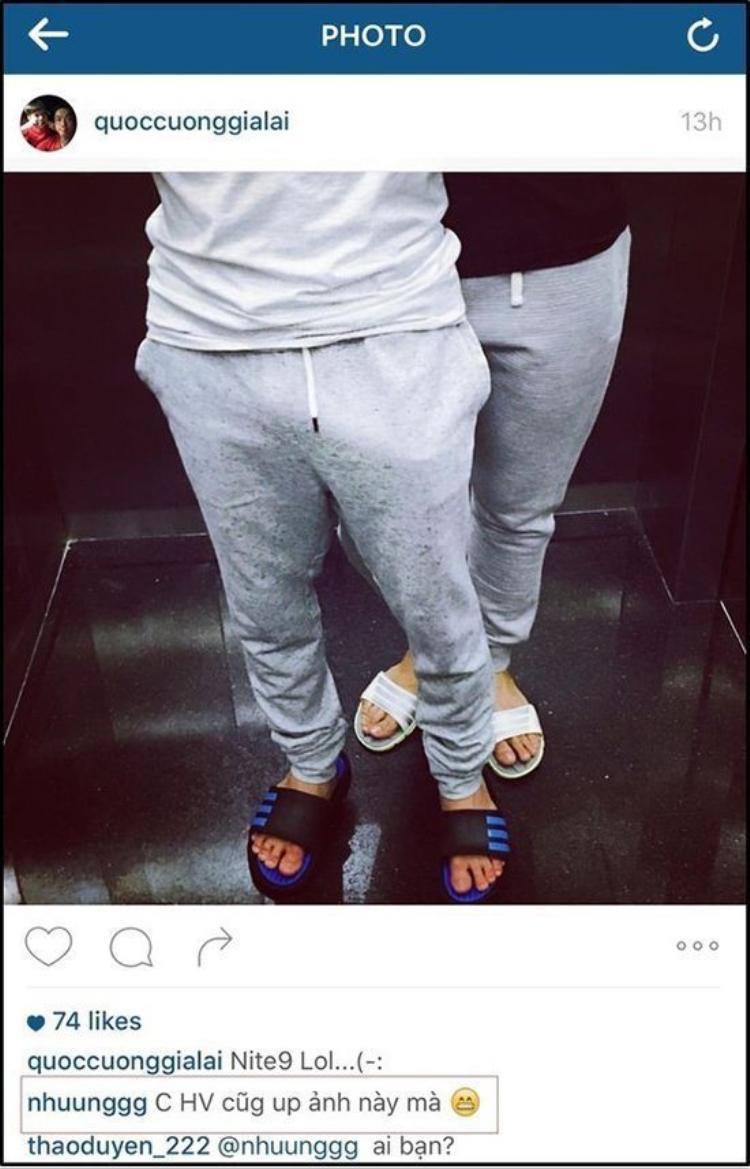 Ngày 29/10/2015, Cường Đô La và Hạ Vi cùng đăng tải hình ảnh giống nhau trên Instagram. Từ đây, không ít người đặt nghi vấn về việc cả hai đang yêu nhau.