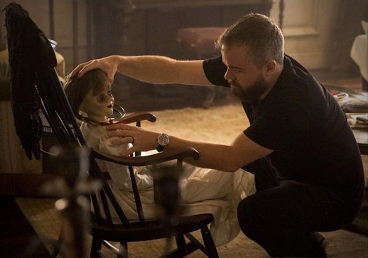 David F. Sandberg đang tiến hành dựng cảnh cho Annabelle 2.