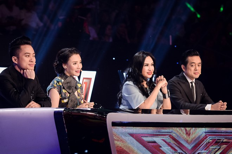 Thanh Lam cùng với Tùng Dương, Hồ Quỳnh Hương và Dương Khắc Linh ngồi ghế giám khảo The X - Factor 2016