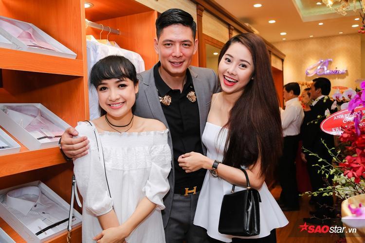 Bình Minh vui vẻ bên hai đồng nghiệp, diễn viên Tường Vy và Lê Bê La.