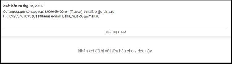 Thậm chí, phần bình luận của MV này cũng đã bị khóa.