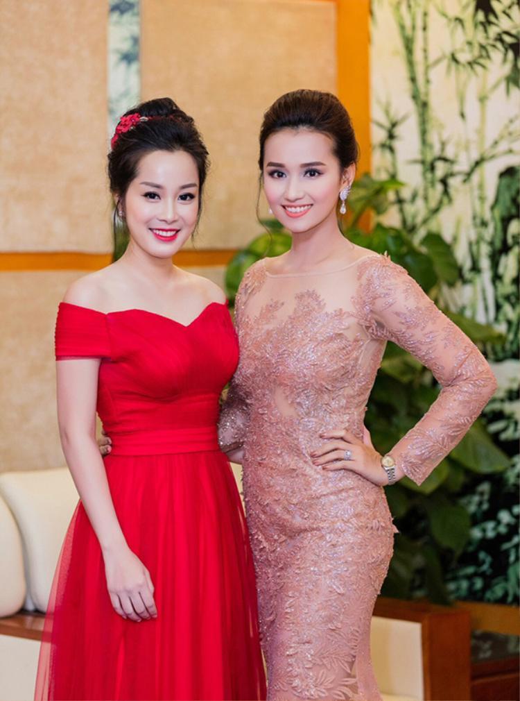 Minh Hương và Lã Thanh Huyền là đôi bạn rất thân ở ngoài đời.
