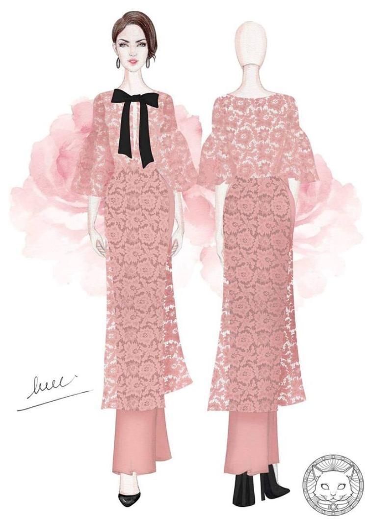 Có thể dễ dàng nhìn thấy thiết kế áo dài vừa lạ vừa quen vì sự lồng ghép tinh tế của phom dáng, chất liệu của hiện đại và truyền thống.
