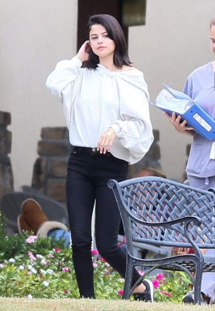 Hình ảnh của Selena tại trại cai nghiện vào tháng 10 năm nay.