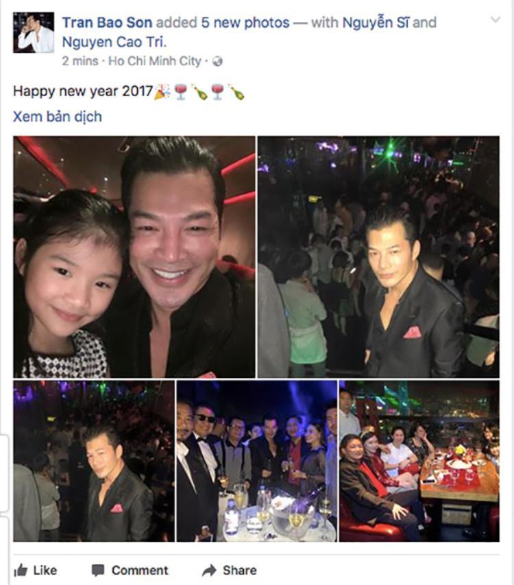 Diễn viên Trần Bảo Sơn lại cùng con gái Bảo Tiên đón năm mới.