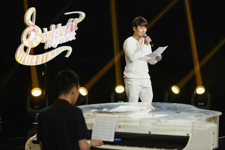 Ưng Đại Vệ đối đầu với Phan Mạnh Quỳnh tại vòng sáng tác ca khúc trong vòng 24 giờ.