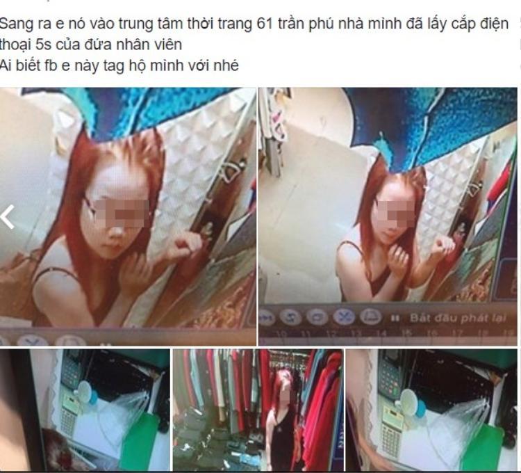 Một tài khoản facebook tố cáo cô gái trong hình ăn trộm điện thoại của nhân viên.