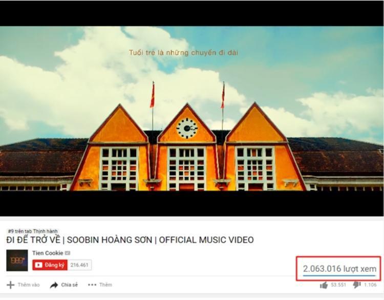 Lượt xem ấn tượng từ MV mới của Soobin Hoàng Sơn.