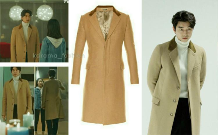 Chiếc áo khoác dáng dài có điểm nhấn ở cổ này thuộc hãng Alexander McQueen có giá 57triệu VNĐ.