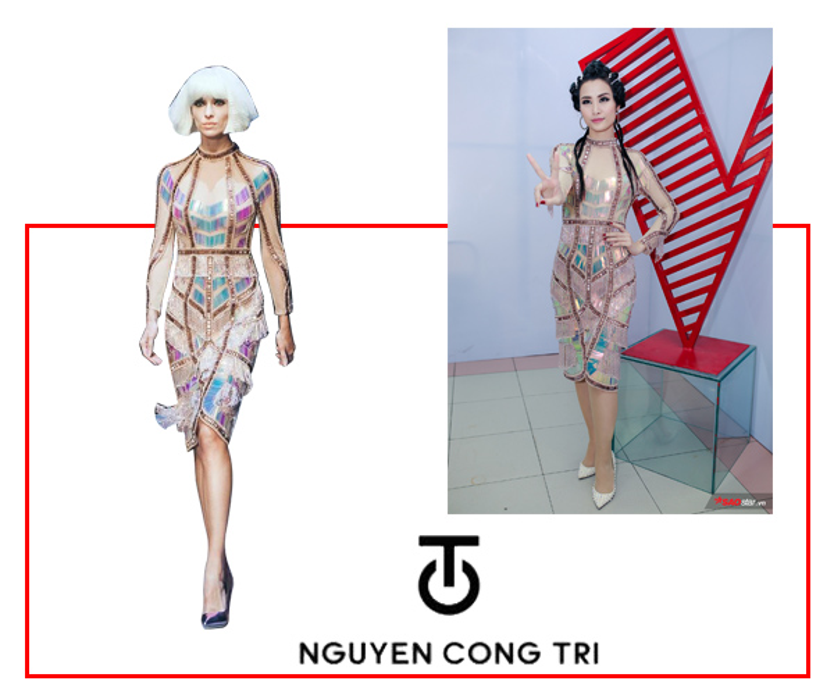 Giọng ca Vì ai vì anhlại lựa chọn một thiết kế của thương hiệu trong nước khi tham gia Giọng hát Việt 2017.